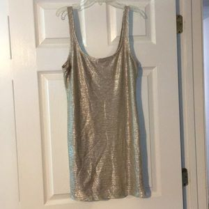 Shimmery fitted f21 bodycon dress!